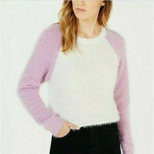 Planet Gold Women's Purple & White Fuzzy Size XS